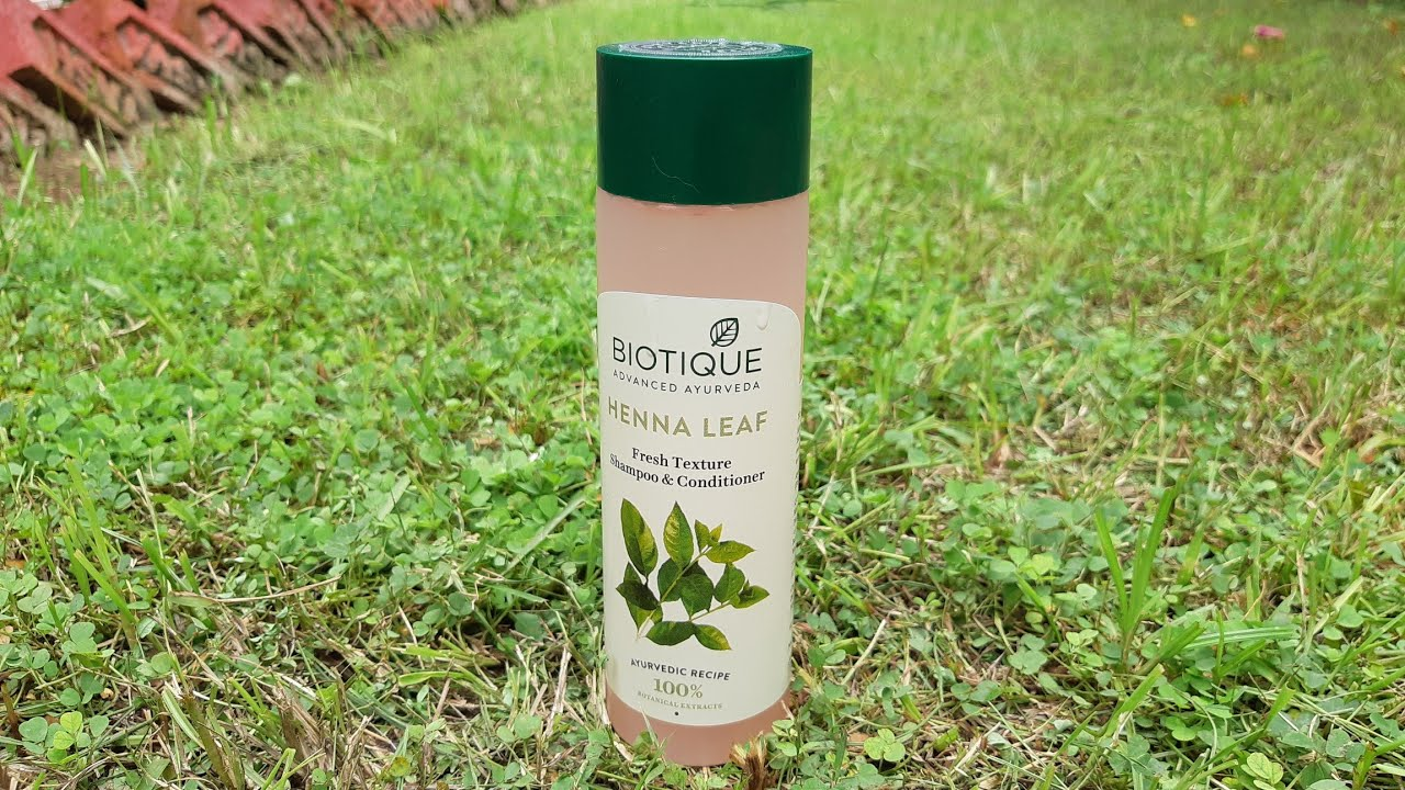 Biotique Henna Leaf Fresh Texture Shampoo And Conditioner Review