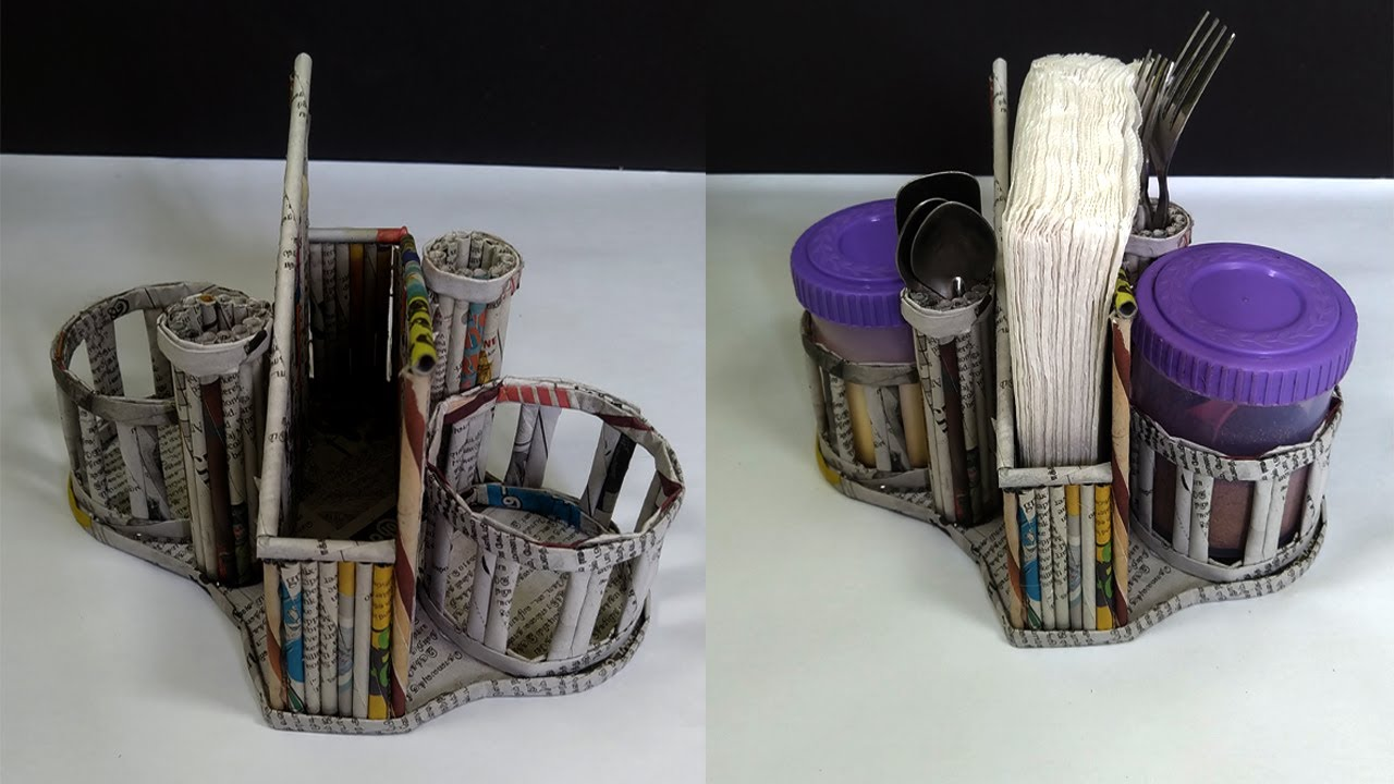 Newspaper Organizer  | Dining Table organizer | Best Out Of Waste | All Type Videyos