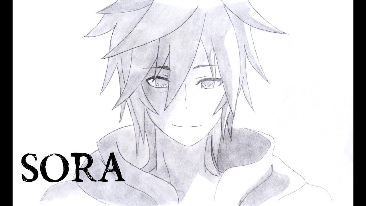 How I Draw Sora From No Game No Life