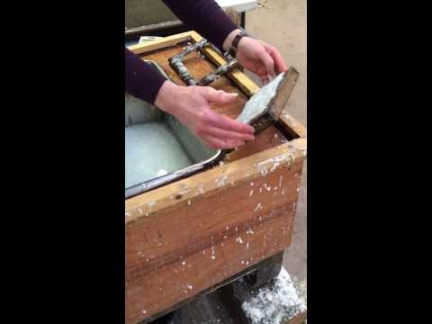 One minute papermaking - Casting a handsheet