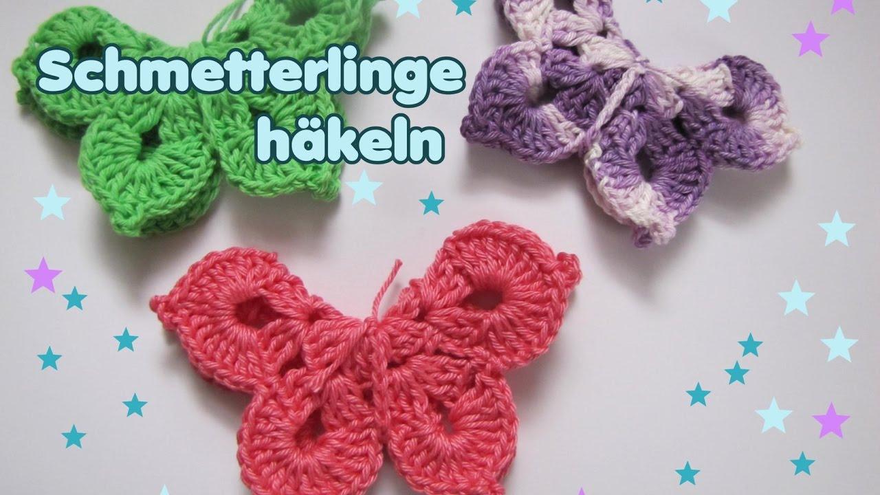 3 D Schmetterling Häkelanleitung Frühlingsdeko Youtube