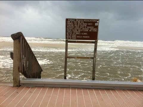 Hurricane Isaac Storm Surge in Gulf Shores, Alabama