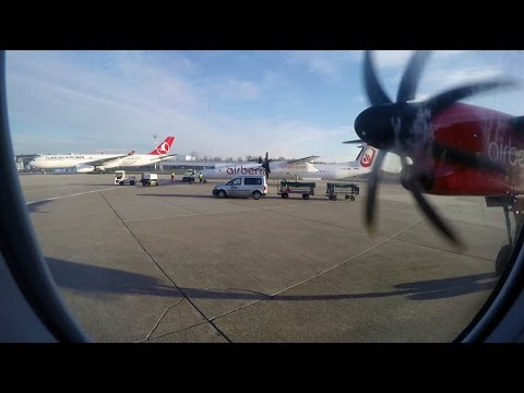 airberlin Bombardier Dash 8-Q400 Takeoff From Düsseldorf Airport With Incredible Engine Sound (DUS)