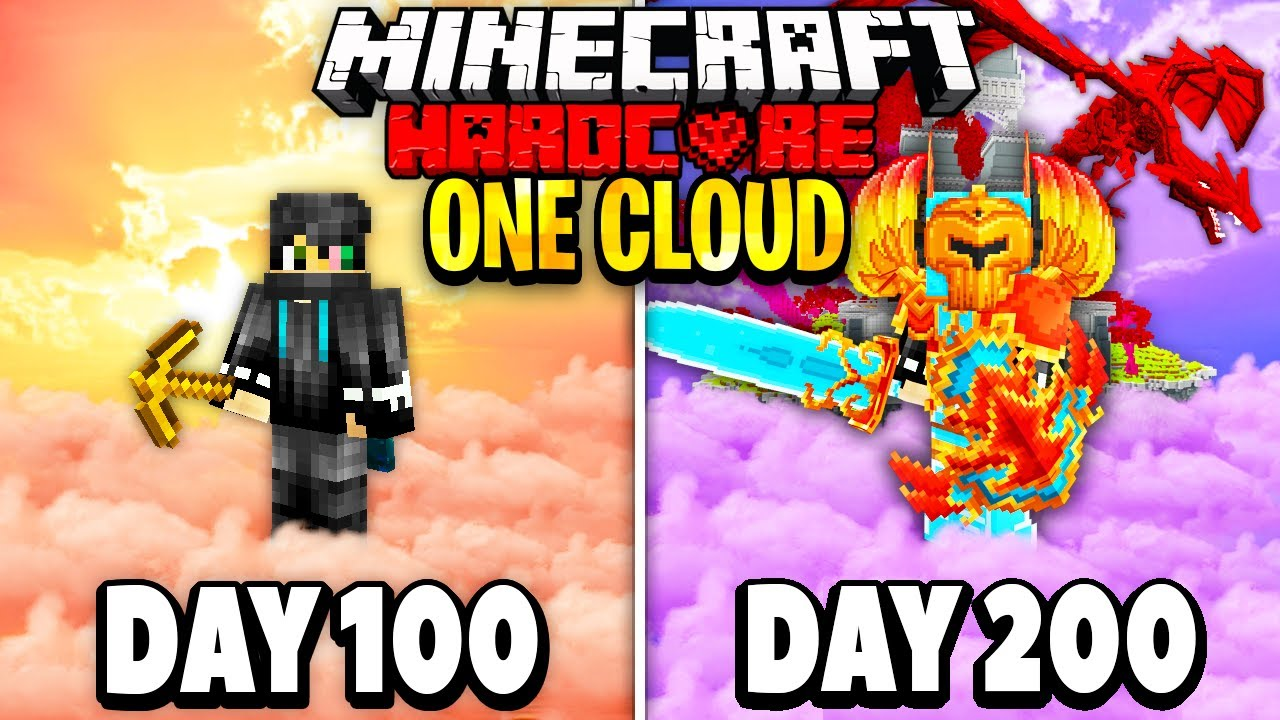 Download I Survived 200 Days on One Cloud in Minecraft.. Here's What Happened..