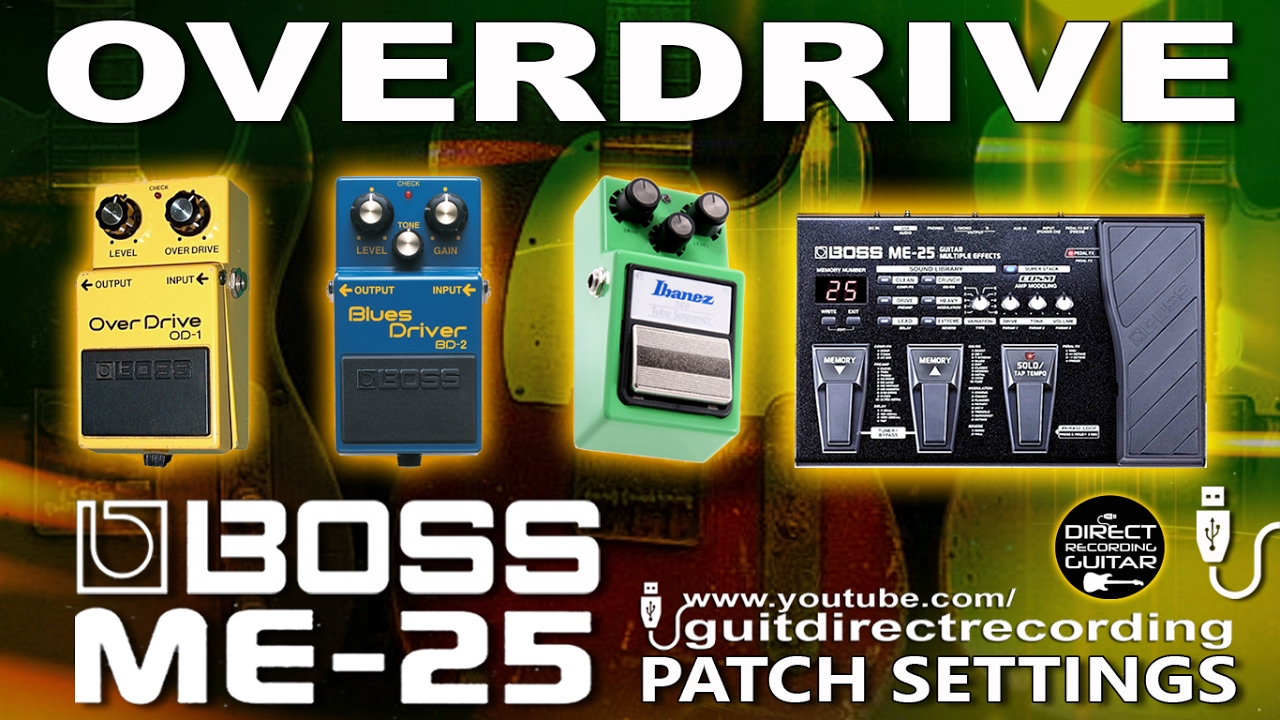Overdrive boss me 25 patches