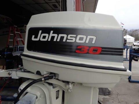 6m5799 Used 1993 Johnson J30rlerm 30hp 2 Stroke Tiller