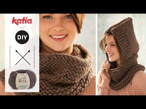 Love Wool DIY: Cuello capucha · Neck warmer & hood - YouTube