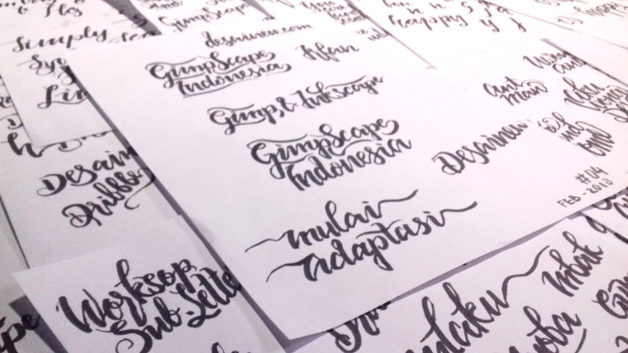 How To Tracing Hand Lettering In Inkscape Youtube
