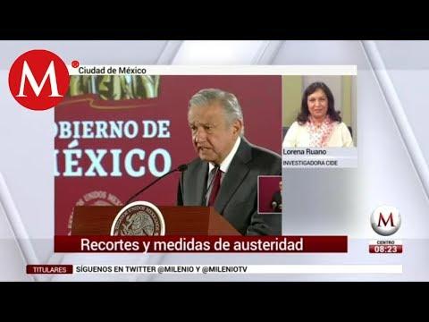 Recortes y medidas de austeridad del gobierno de AMLO: Lorena Ruano