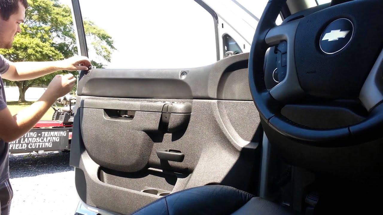 07 13 silverado door panel and mirror removal youtube