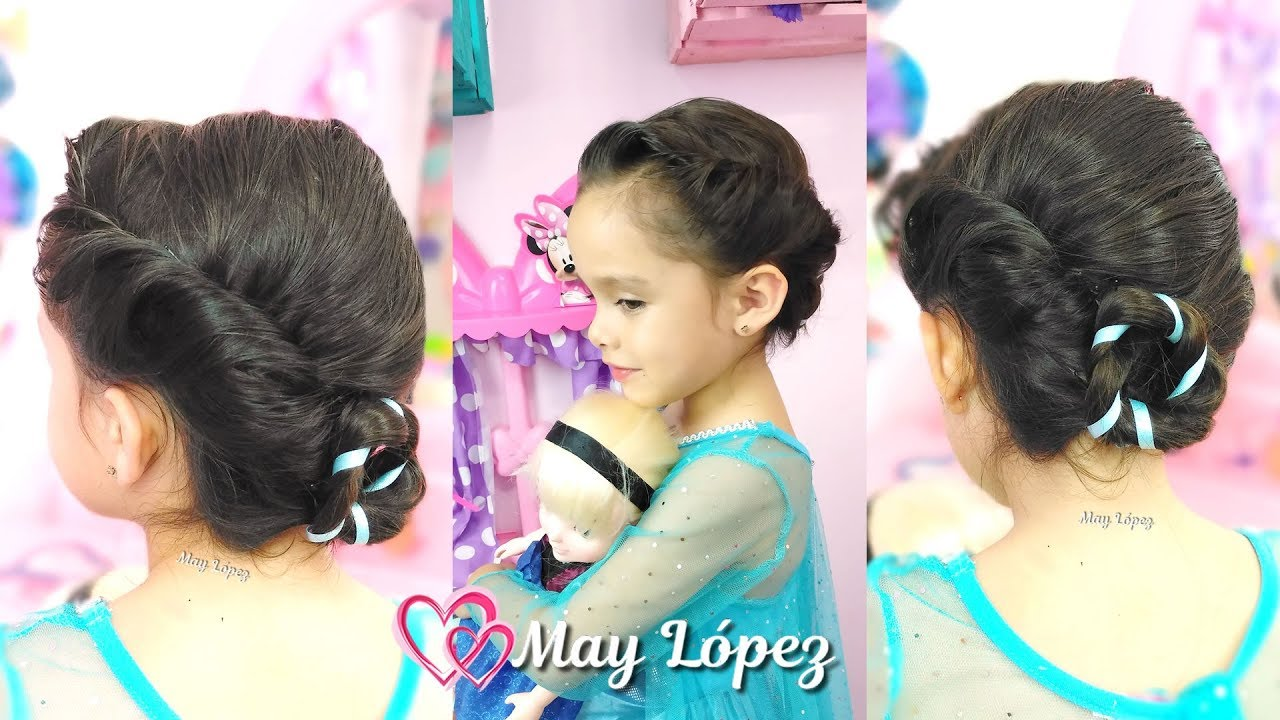 Peinado Elsa De Frozen Peinados Para Halloween May Lopez Youtube