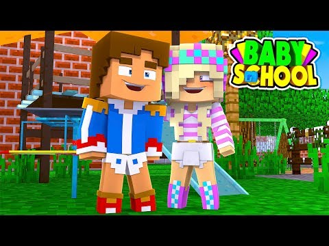 Minecraft BABY SCHOOL - TEACHER LEAH IS TURNED INTO A BABY LEAH!!! w/ LITTLE DONNY
