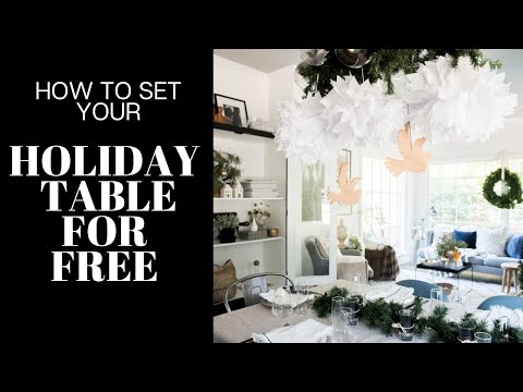 FREE Dining Room Holiday Decor Ideas! Set Your Table & Decorate:: 25 Day Christmas Countdown: Day 10
