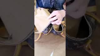Louis Vuitton bag transformation #sewing #louisvuitton #diy #fashion #shorts