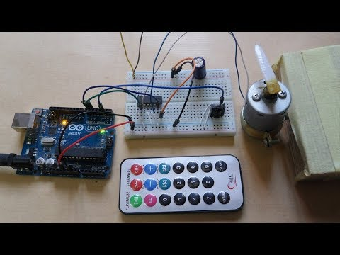 Arduino based remote controlled DC motor - Simple Projects