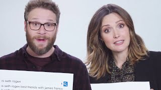 Seth Rogen & Rose Byrne Answer The Web's Most Searched Questions(Seth Rogen and Rose Byrne, stars of upcoming film 'Neighbors 2,' answer the internet's most searched questions in a Google Autocomplete interview., 2016-05-16T10:00:33.000Z)