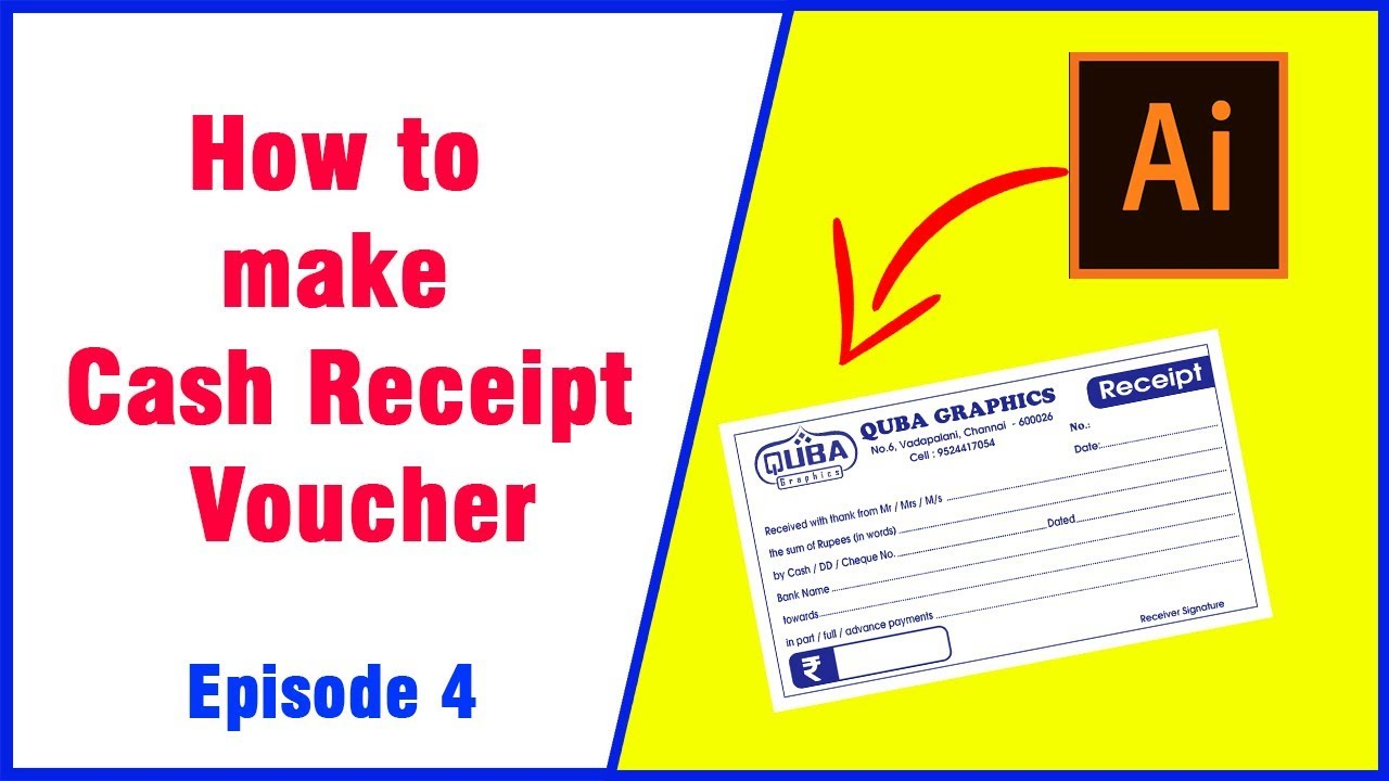 How to make Receipt Voucher | Download cash receipt format