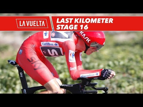 Last kilometer of Christopher Froome - Stage 16 - La Vuelta 2017