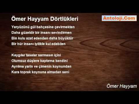 ömer Hayyam Dörtlükleri şiiri ömer Hayyam Youtube