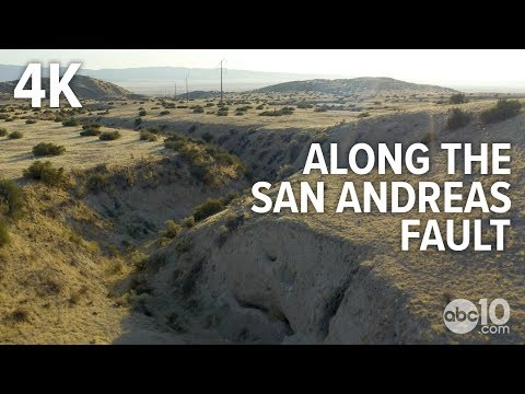 San Andreas Fault In California: Raw Drone Video [4K]   Earthquake Ready Or Not