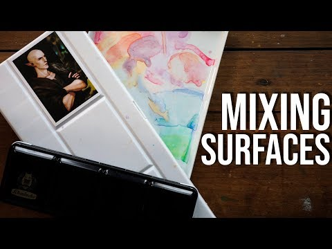 Watercolor Palette Mixing Surfaces - Differences & My Favorite!