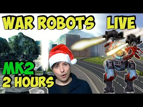 Manni's Best War Robots Live Stream - 2h Mk2 Gameplay & Funny Moments