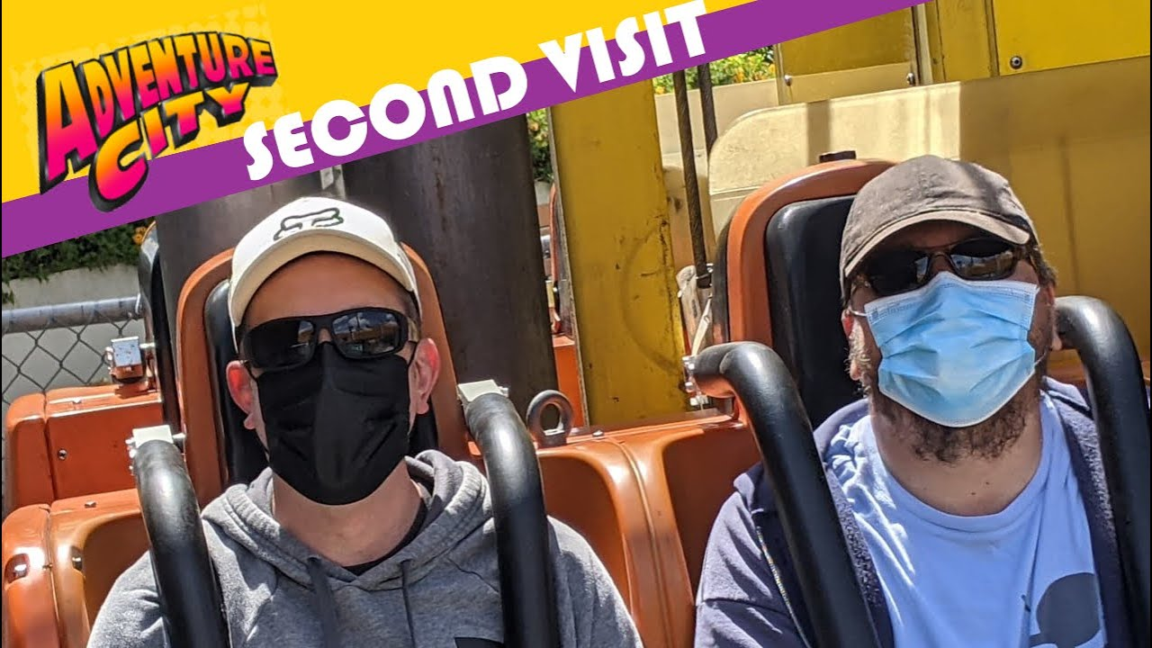 A few KNOTT'S NUTS visit ADVENTURE CITY and ride REWIND RACERS