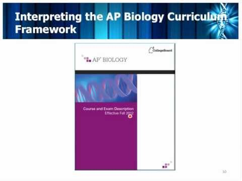 Designing Instruction to Support the Revised AP Biology Course