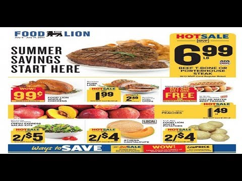 Food Lion Wv Weekly Ad For This Week Valid To July 11 2017 Youtube