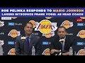 Rob Pelinka RESPONDS to Magic Johnson - Lakers introduce Frank Vogel as head coach | CBS Sports HQ