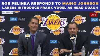 Rob Pelinka RESPONDS to Magic Johnson - Lakers introduce Frank Vogel as head coach | CBS Sports HQ