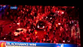 Party Downtown Chicago: Hawks Win Stanley Cup 2013