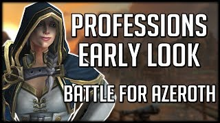 ANOTHER PROFESSIONS OVERHAUL IN BFA - Early Look Into New Crafting | WoW Battle for Azeroth