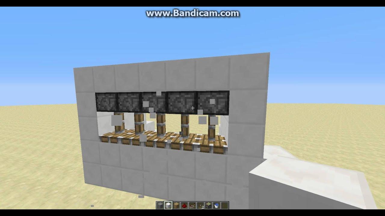 How To Make A Garage Door In Minecraft 188 Youtube