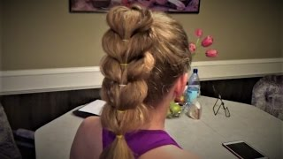 Плетение с резинками Причёска за 5 минут. Peinado Hairstyle
