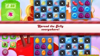 Candy Crush Jelly Saga Level 1632 (3 stars, No boosters)