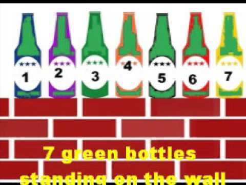 10 Green Bottles Standing on the Wall - Readalong Counting Song with Lyrics