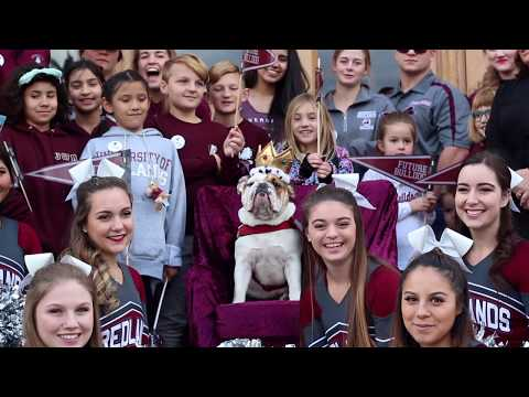 Addie is crowned University of Redlands mascot