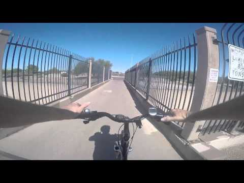 Bike Ride,  Arizona Canal and Cave reek Wash trails