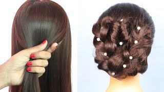 Twister Braided Bun For Wedding/party    bridal hairstyle    easy hairstyles    simple hairstyle