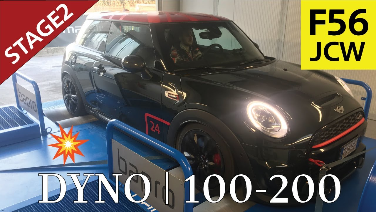 Mini F56 Jcw Stage2 300hp At Dyno And 100 200 Youtube