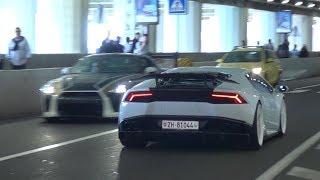 Supercars in Monaco VOL. 8! + FUNNY PUBLIC IN TUNNEL - F12 N-Largo S, F12TDF,  918, Agera R