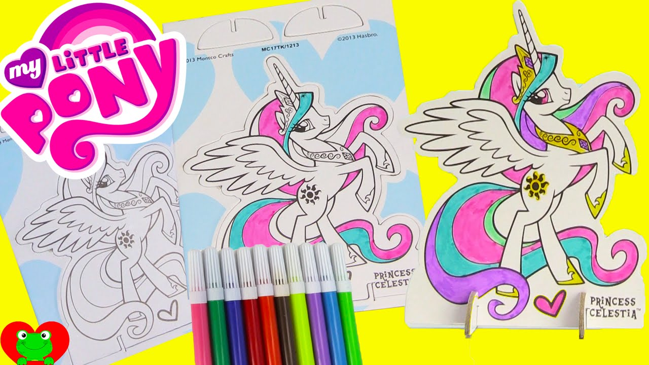 My Little Pony Pop Outz Princess Celestia Coloring with Tsum Tsums