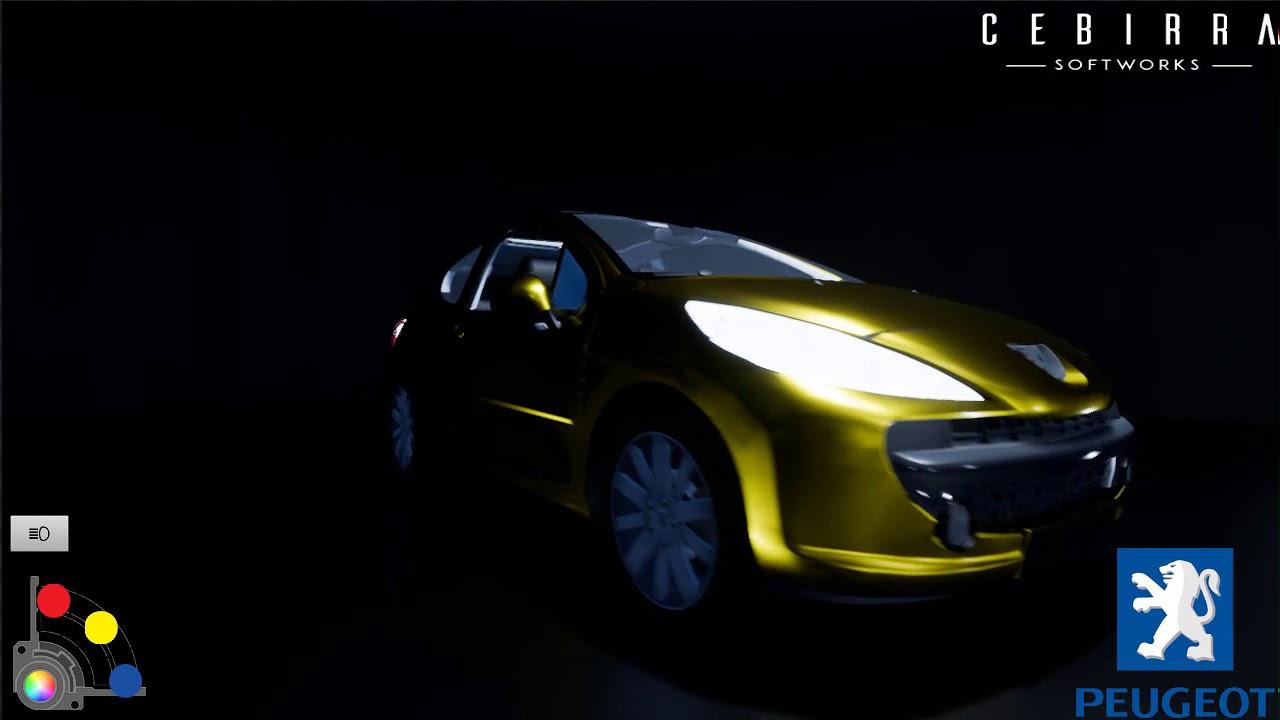 peugeot 207 car configurator - youtube