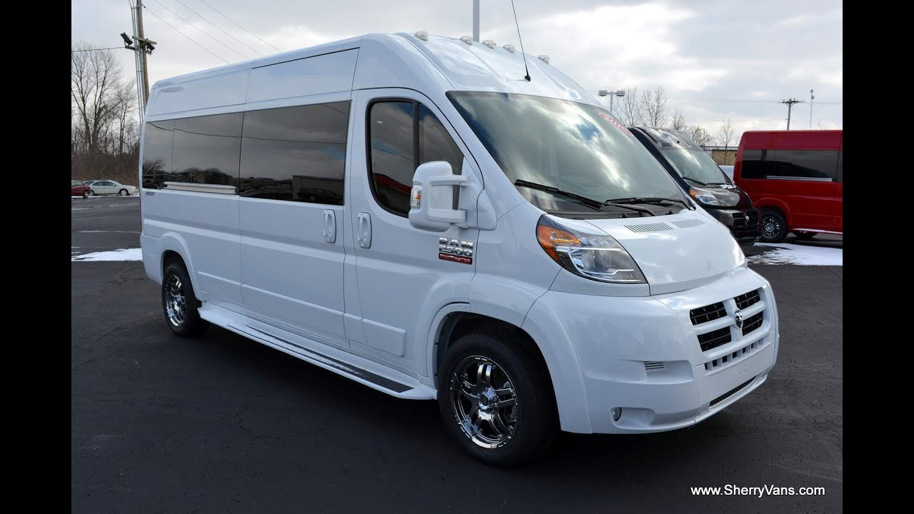 2016 Ram ProMaster 9 Passenger High Top Conversion Van By Sherry Vans Walkthrough