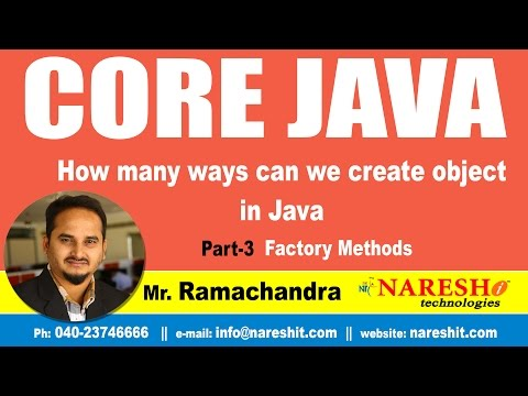 How many ways can we create object in Java Part 3 Factory Methods | Core Java Tutorial