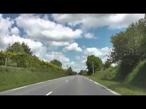 Driving On The D31 & D787 From La Croix Tasset To Grâces, Côtes d'Armor, Brittany, France