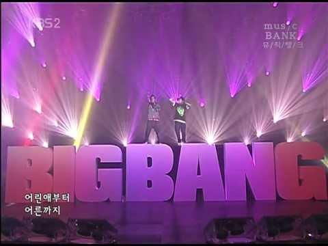 BIGBANG - Intro, La La La & V.I.P (KBS Music Bank)