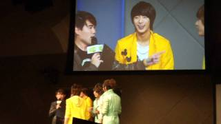"""Sandeul sharing Gongchan's """"secrets"""" and ideal type @ SG Showcase"""