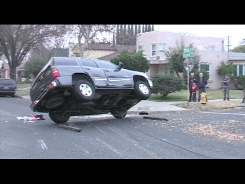 Vehicle Rollover Traffic Accident In Modesto, California - Modesto Police &  Fire News Footage